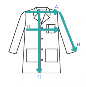Lab Coats Sizing Chart