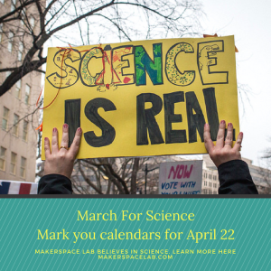 March For ScienceMark you calendars for April 22