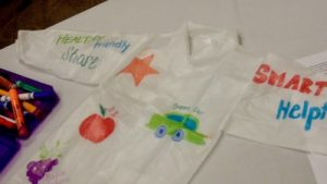 Child Lab Coat with vocabulary drawings