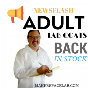 Makerspace Lab adult size disposable lab coats