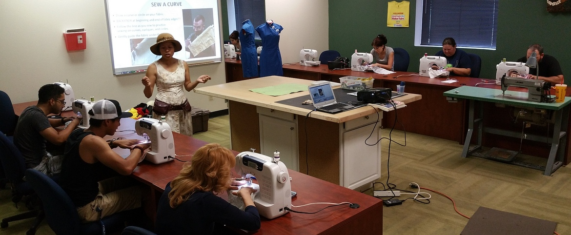 vocademy maker space education sewing craf