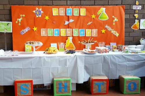 Science Birthday Party Brunch Table